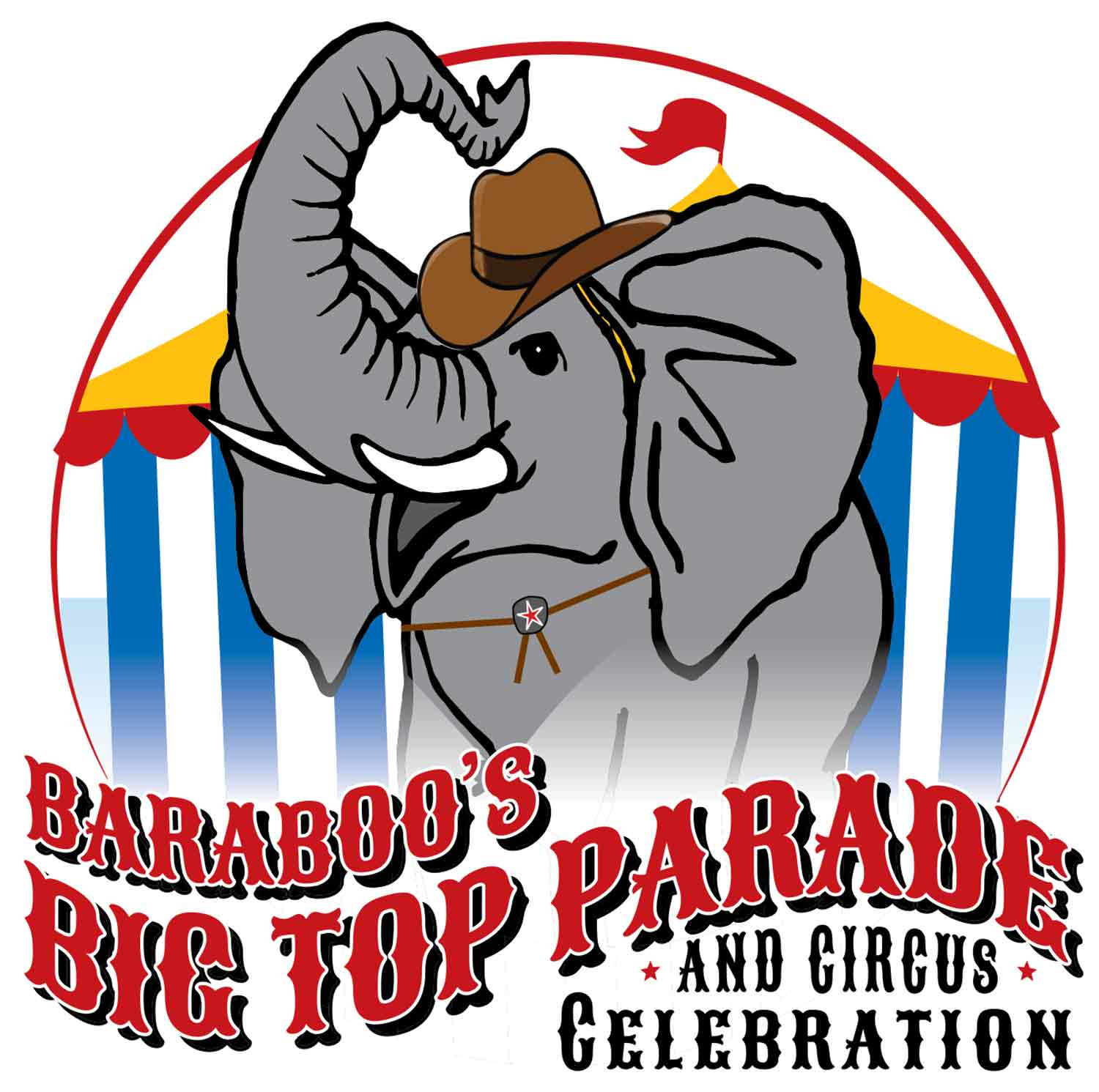 Baraboo Circus World Big Top Parade elephant