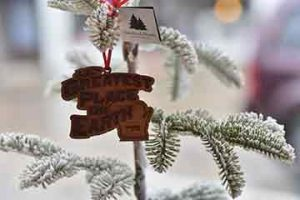 Greatest Place on Earth brand ornament Christmas tree Baraboo