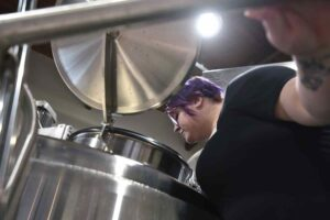 Tumbled Rock Brewery brewmaster Erica DeAnda